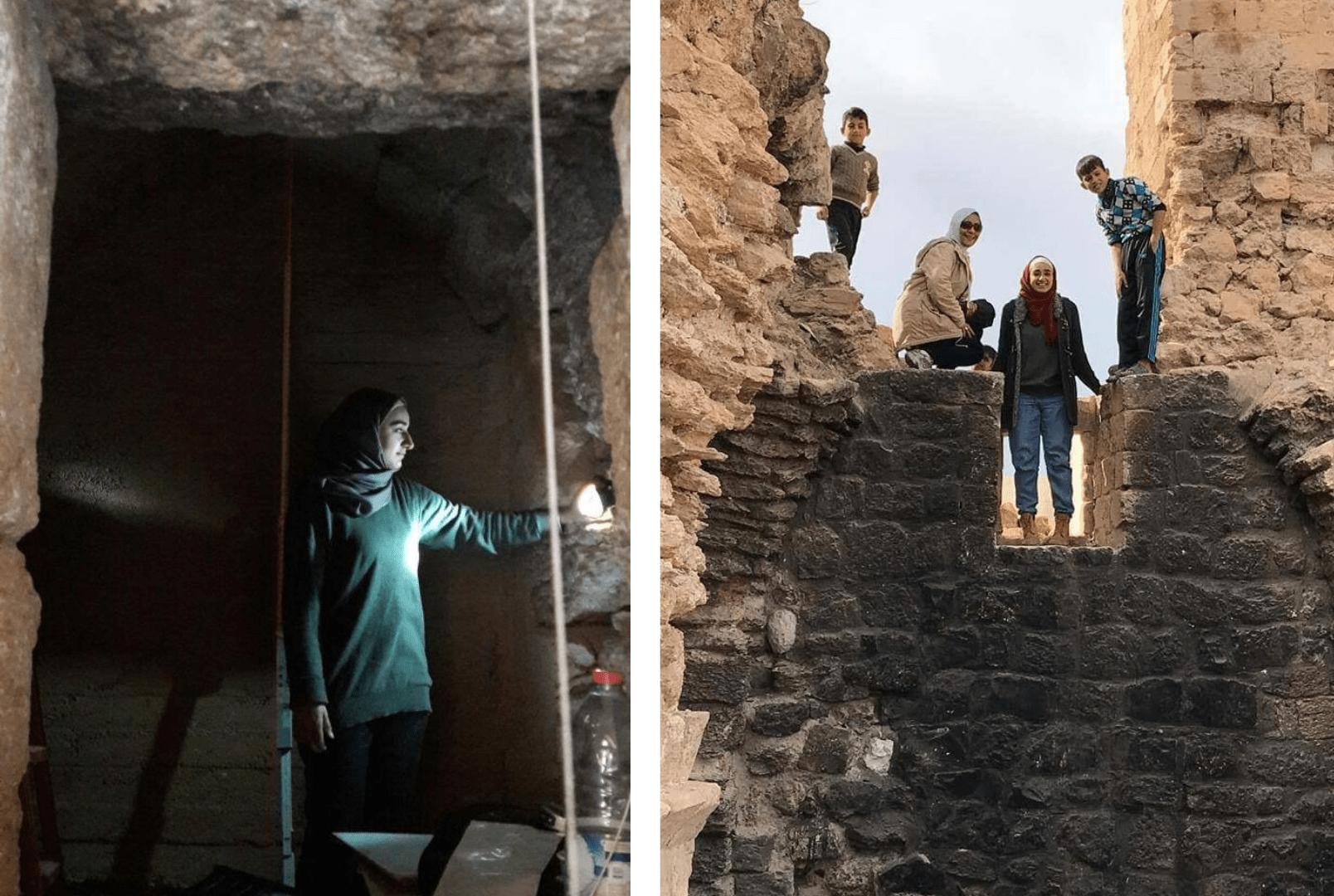 Enas Qasem during her field work in Jordan.